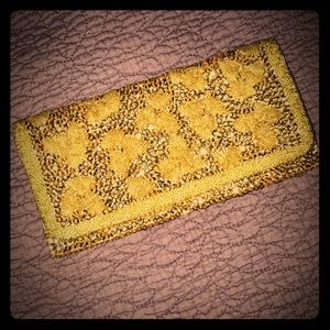 Vintage gold beaded cocktail clutch